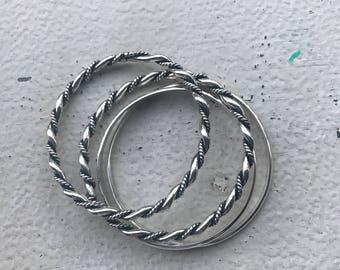 4 bagle set sterling silver