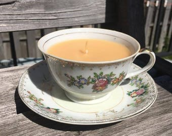 Vanilla Scented Tea Cup Candle