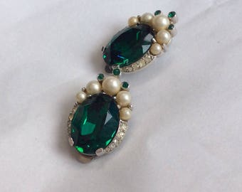 Trifari earrings - signed and sophisticated
