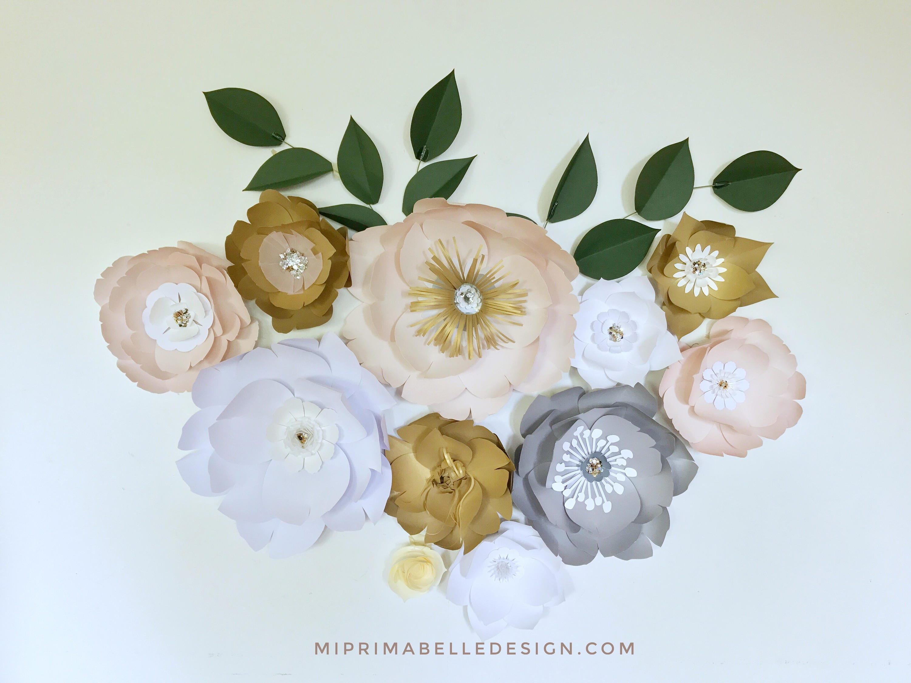 Wall Decor Paper paper flowers wall decor, baby girl nursery room decor, girl first
