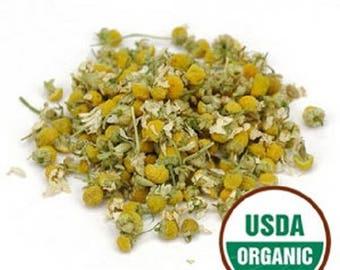 Chamomile Flowers, Organic 1 lb. (Pound) 16 oz.