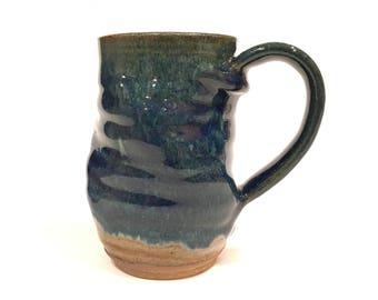 Twisted Coffee Mug, Unique Coffee Mug, Wheel Thrown Mug CMNOV17TW6