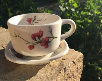 Vintage Syracuse China Floral Restaurant  Ware Cup and Saucer