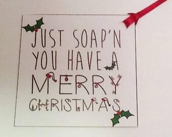 5 Christmas Soap Tag