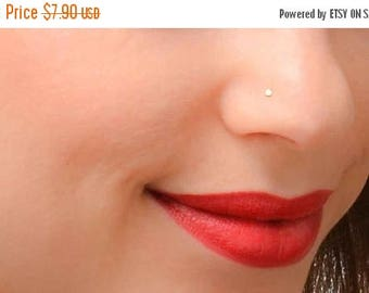 SALE - Tiny Nose Stud, Gold Nose Stud, Nose Stud, Tiny Nose Piercing, Simple Nose Stud, Dainty Nose Stud
