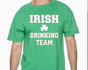 Irish drinking team tshirt, irish, irish shirt, irish top