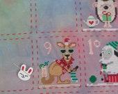Needleminder / needle keeper / needle knack for cross stitch / embroidery / needlework / xstitch / white bunny