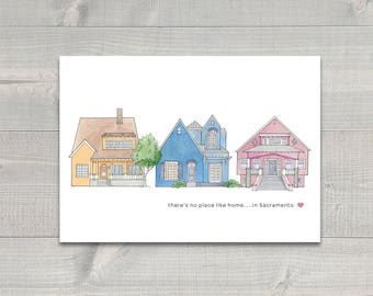 Craftsman Houses Greeting Card