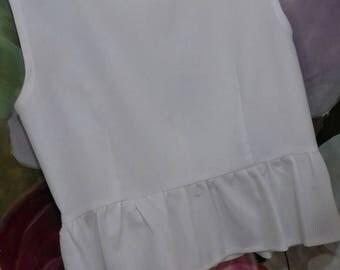 Crop top/summer top in cotton/white Crop top