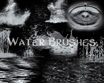 Water and Splash brushes - procreate