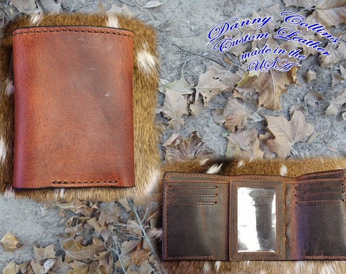 Tri fold wallet, Mens Trifold, Leather wallet