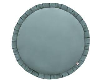 Play mat / Kids play mat / Baby round mat / Padded baby mat / Padded play mat / Green play mat / Kids rug