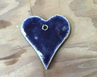 Large Purple Heart Ornament