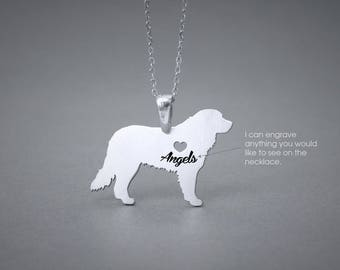 BERNESE MOUNTAIN Dog NAME Necklace - Bernese Mountain Dog Name Jewelry - Personalised Necklace - Dog breed Necklace- Dog Necklace
