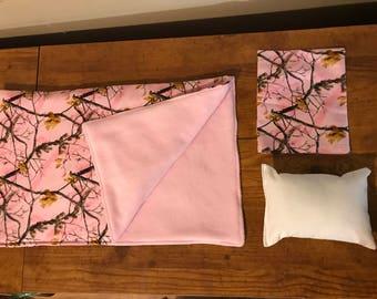 Pink Tree Sleeping Bag Set