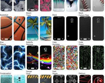 Choose Any 2 Designs - Vinyl Skins / Decals / Stickers for Samsung Galaxy S5 Mini Android Smartphone