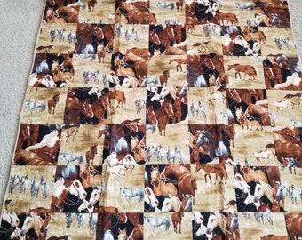 Horses lap quilt