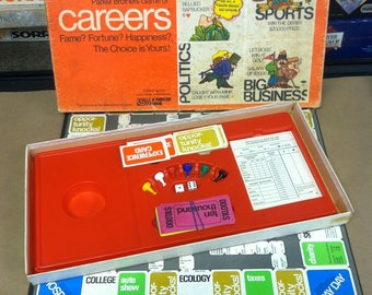 1971 Careers Board Game Vintage 1970's Parker Brothers