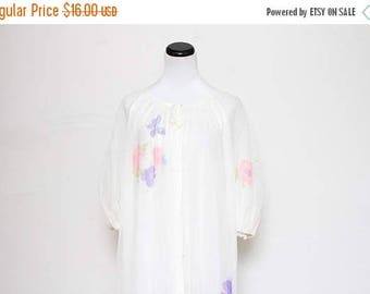 25% OFF VTG 60s White Floral Babydoll Night Sleep Sheep Gown O/S