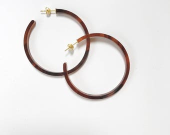 Kipling Hoops - Tortoise Hoops - Hoop Earrings - Tortoise Earrings - Margie and Dot Kipling Hoops