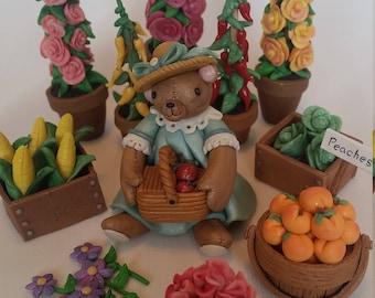 Teddy bear with basket