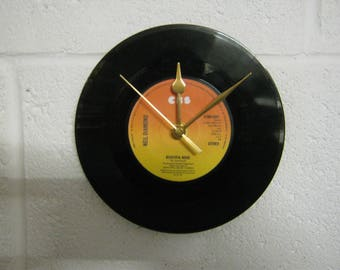 "Neil Diamond ""Beautiful Noise"" Special Unique 7"" Vinyl Record Wall Clock Gift/Present"