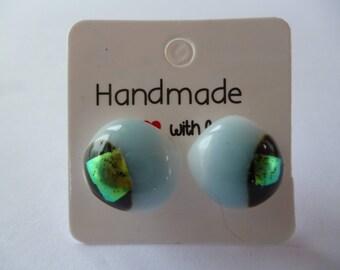 Glass Stud Earrings