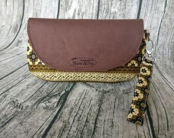 Glenda's Clutch - Brown Batik