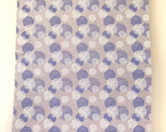 Handmade Indian Cotton Rag Decorative Paper - Blue and White Flower Pattern