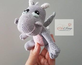 Handmade Crochet Baby Dragon | Soft Dragon Toy