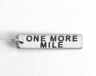 Running Jewelry, ONE MORE MILE Running Charm