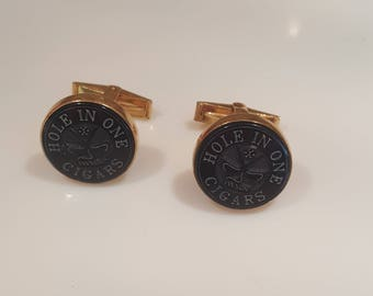 Hole In One Cigars cufflinks