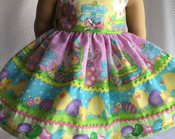 "EASTER BUNNY CHICK Dress Fits My American Girl and Other 18"" Dolls"