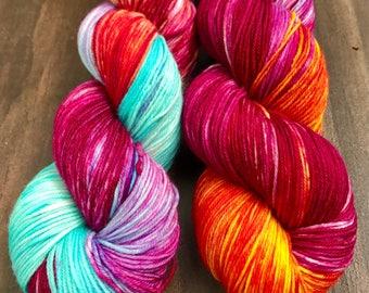 Purple Dragon -  Hand Dyed Nomad Superwash Merino and Nylon Sock Yarn