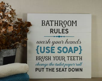 Bathroom Signs South Africa kids bathroom signs | etsy