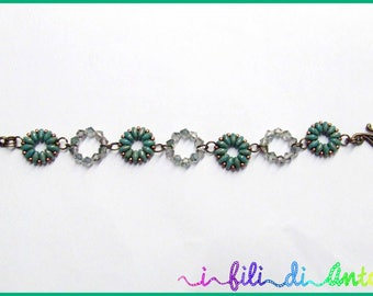 girotondo-bracelet with beads and crystals