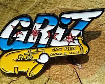 Griz Chicago Navy Pier  Hat Pin, Griz Hat Pins, Heady Pins, Enamel Pins, Rave Pins, Festival Pins