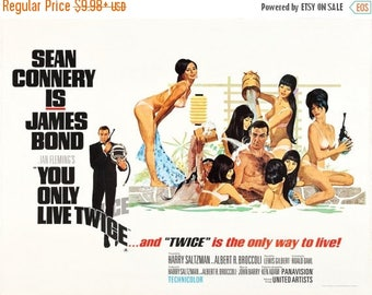 Back to School Sale: You Only Live Twice Movie POSTER (1967) Fantasy/Action
