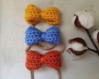 Set of 3 Medium Headbands / Baby Shower Headband Sets / First Birthday Headband Sets / Nylon Headbands / Nylon Headband Sets