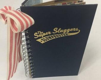 Baseball Book, Art Journal, Junk Journal, Smash Book, Scrap Journal, Altered Book, Gratitude Journal