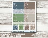 Homebody Glitter Functional Planner Stickers