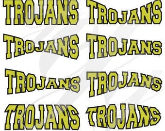 Trojans Curved Layouts Peach County Fullington SVG EPS DXF Digital Cutting Design- Instant Download-  jpg pdf Vector File Graphic Design