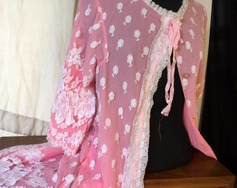 """""""Baby Doll"""" Vintage Retro 1960's Pink negligee"""