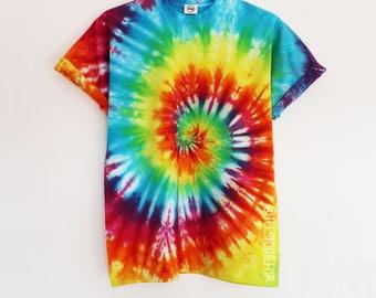 Pina Colada Tie Dye Rainbow Swirl T-shirt