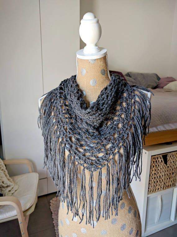 Crochet Scarf Pattern Only Crochet Triangle Scarf Pattern