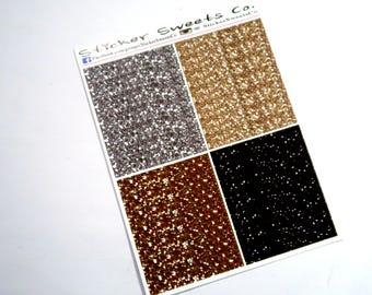 Glitter Headers metallic shades gold silver black