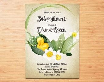 Duck Baby Shower Invitation
