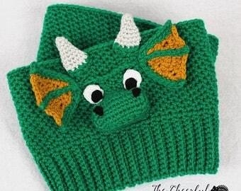 Crochet Pattern - Dragon Crochet Pattern - Crochet Boot Cuff Pattern - Kids Boot Cuff Pattern - Adult Boot Cuff Pattern - Instant Download