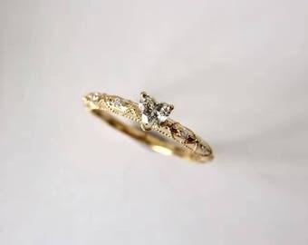 0.2 Carat Heart Diamond Engagement Ring