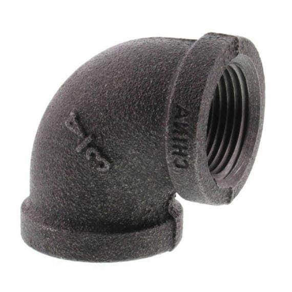 Black malleable iron pipe elbow fitting quot diy shelving